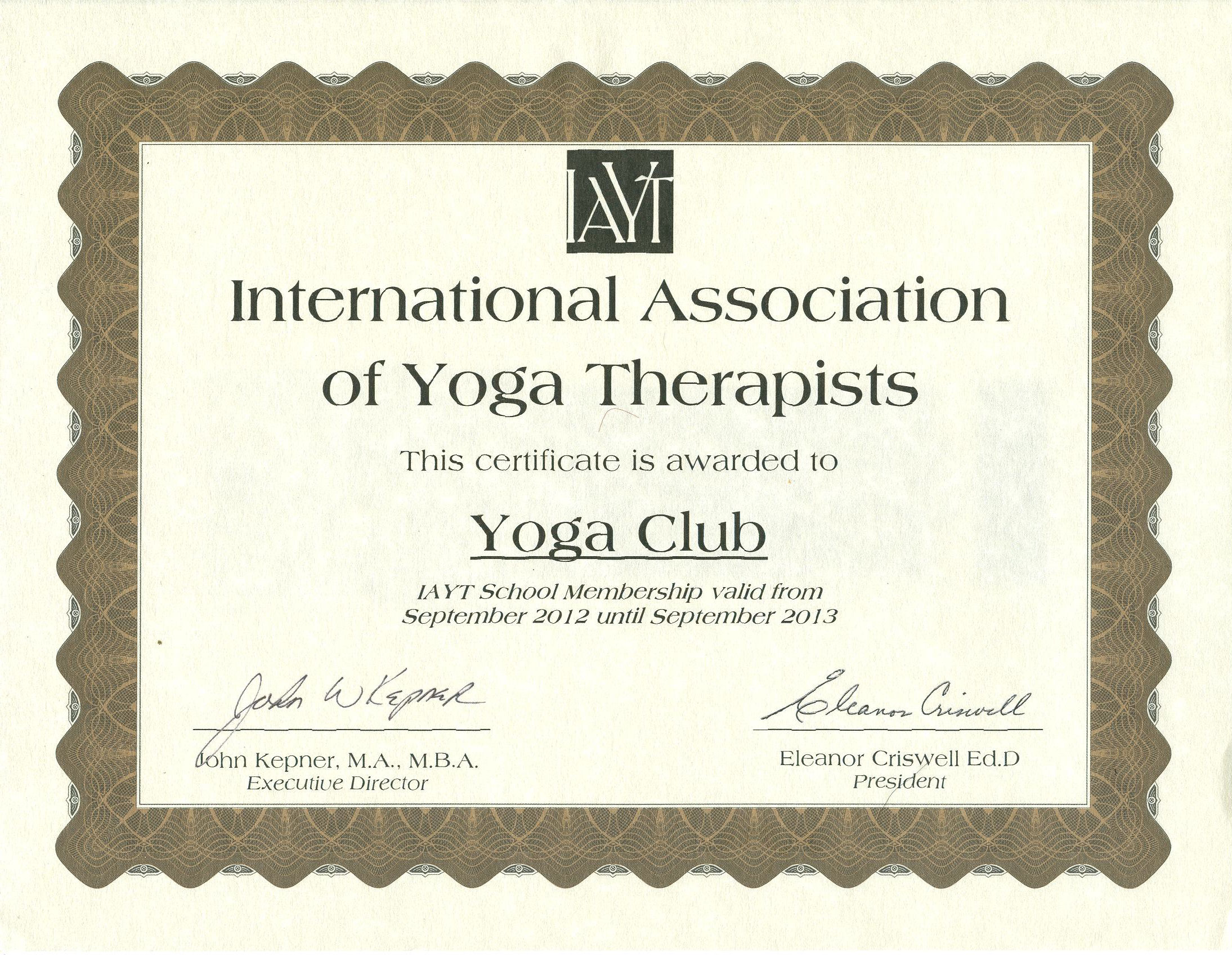 Therapeutic yoga certification with yoga club rys member iayt therapeutic yoga certification with yoga club rys member iayt 500 hour 800 hour 1000 hour programs 1betcityfo Images